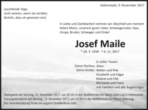 Maile_Todesanzeige_Familie